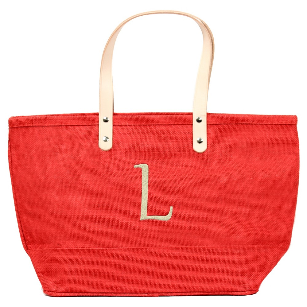 Womens Monogram Red Nantucket Tote - L, Size: Large, Red - L
