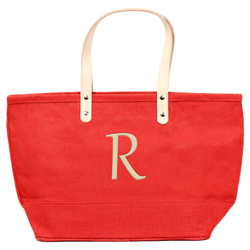 Womens Monogram Red Nantucket Tote - R, Size: Large, Red - R