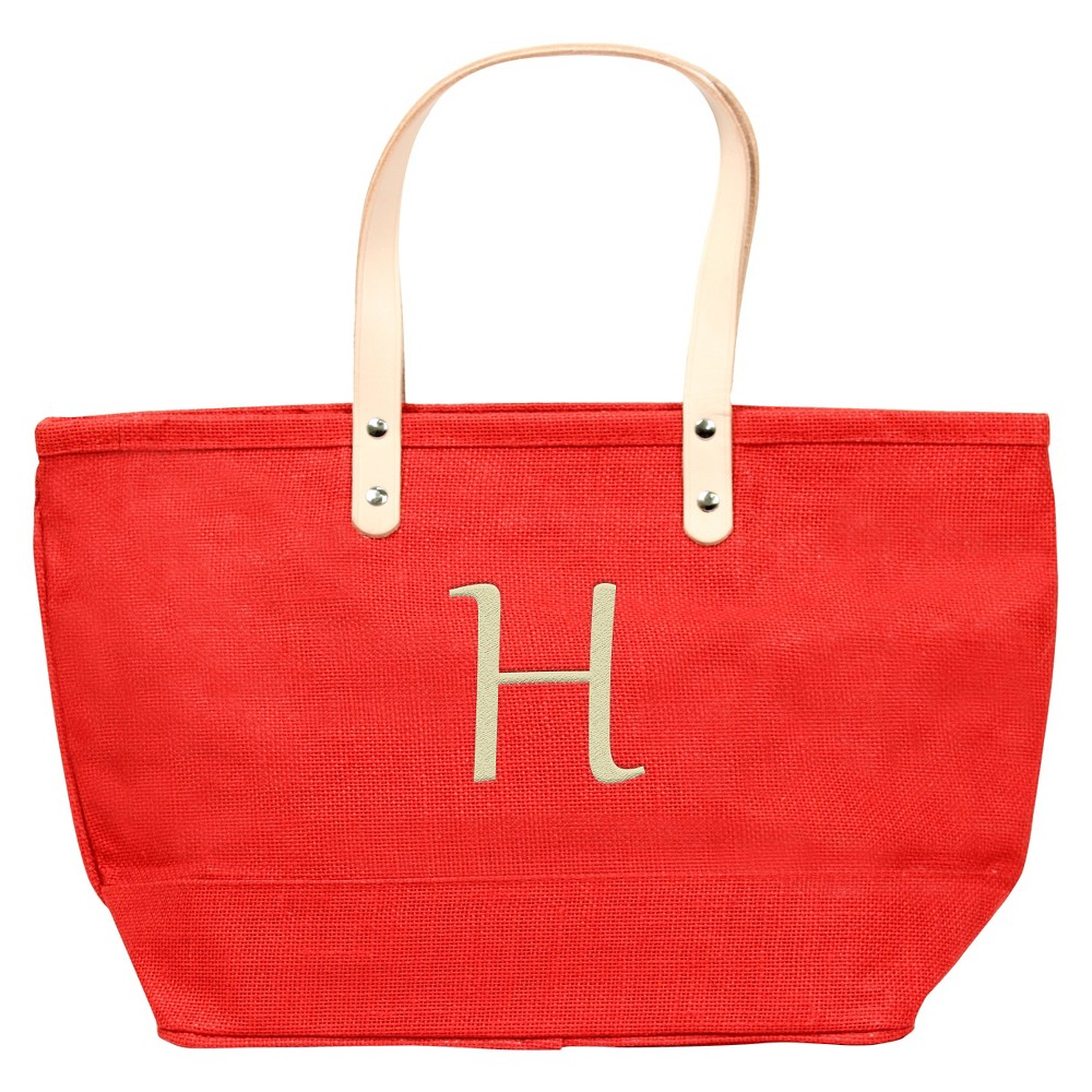 Womens Monogram Red Nantucket Tote - H, Size: Large, Red - H
