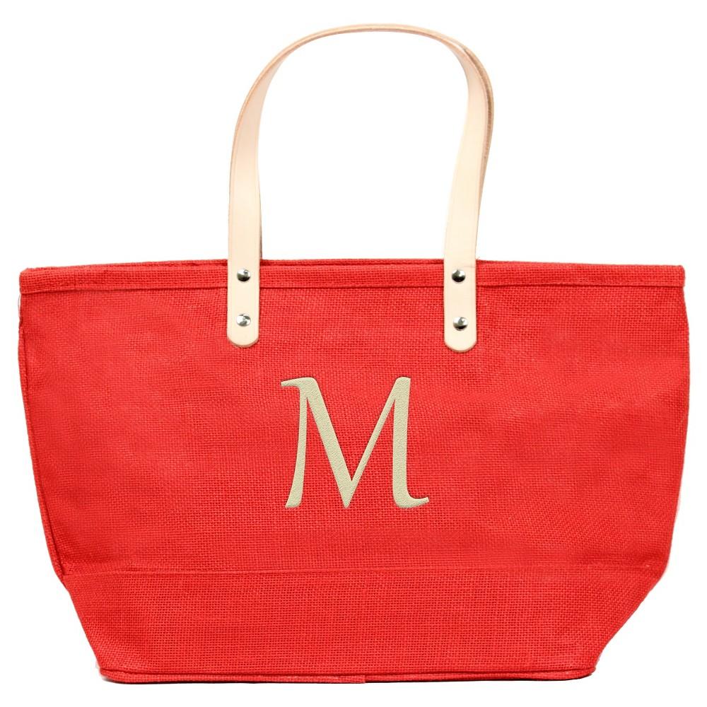 Womens Monogram Red Nantucket Tote - M, Size: Medium, Red - M