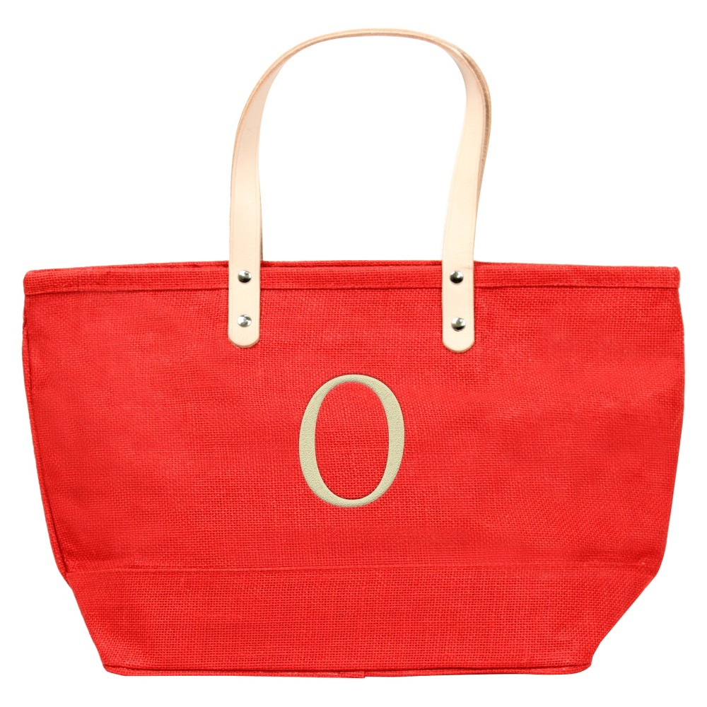 Womens Monogram Red Nantucket Tote - O, Size: Large, Red - O