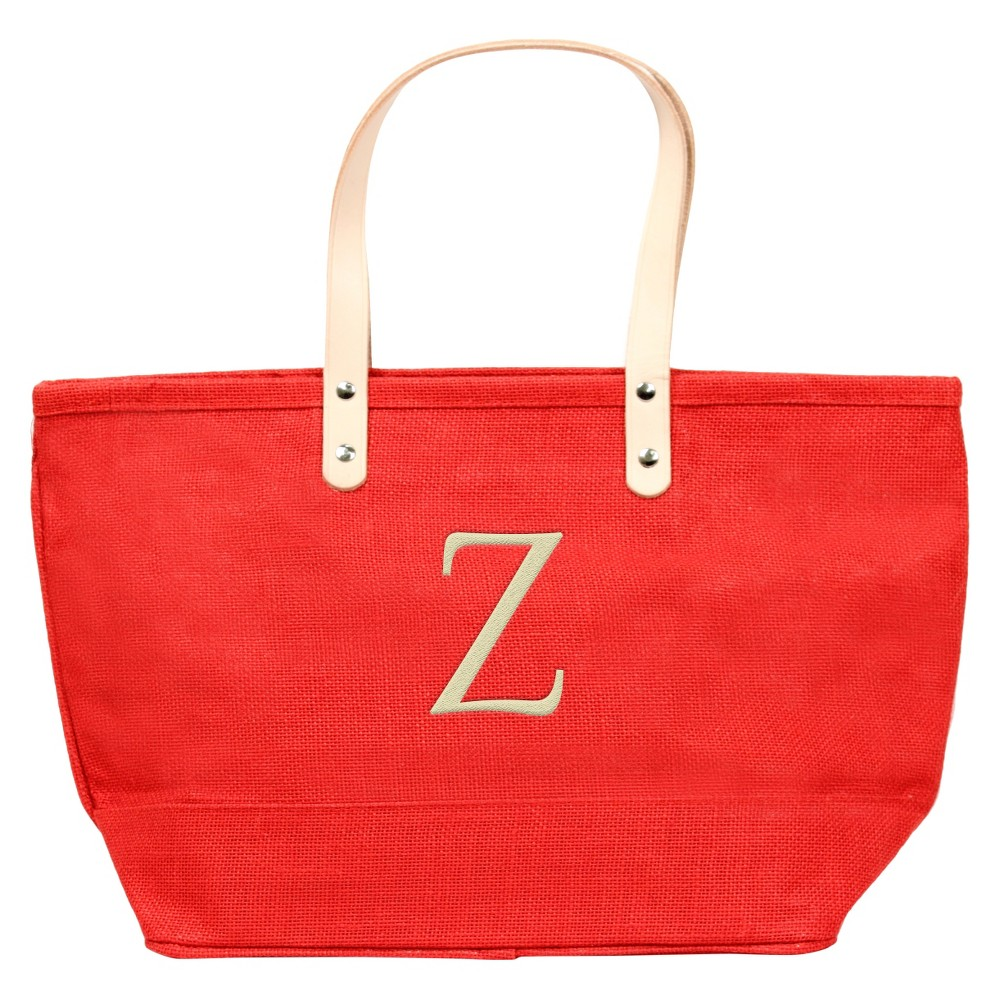 Womens Monogram Red Nantucket Tote - Z, Size: Large, Red - Z
