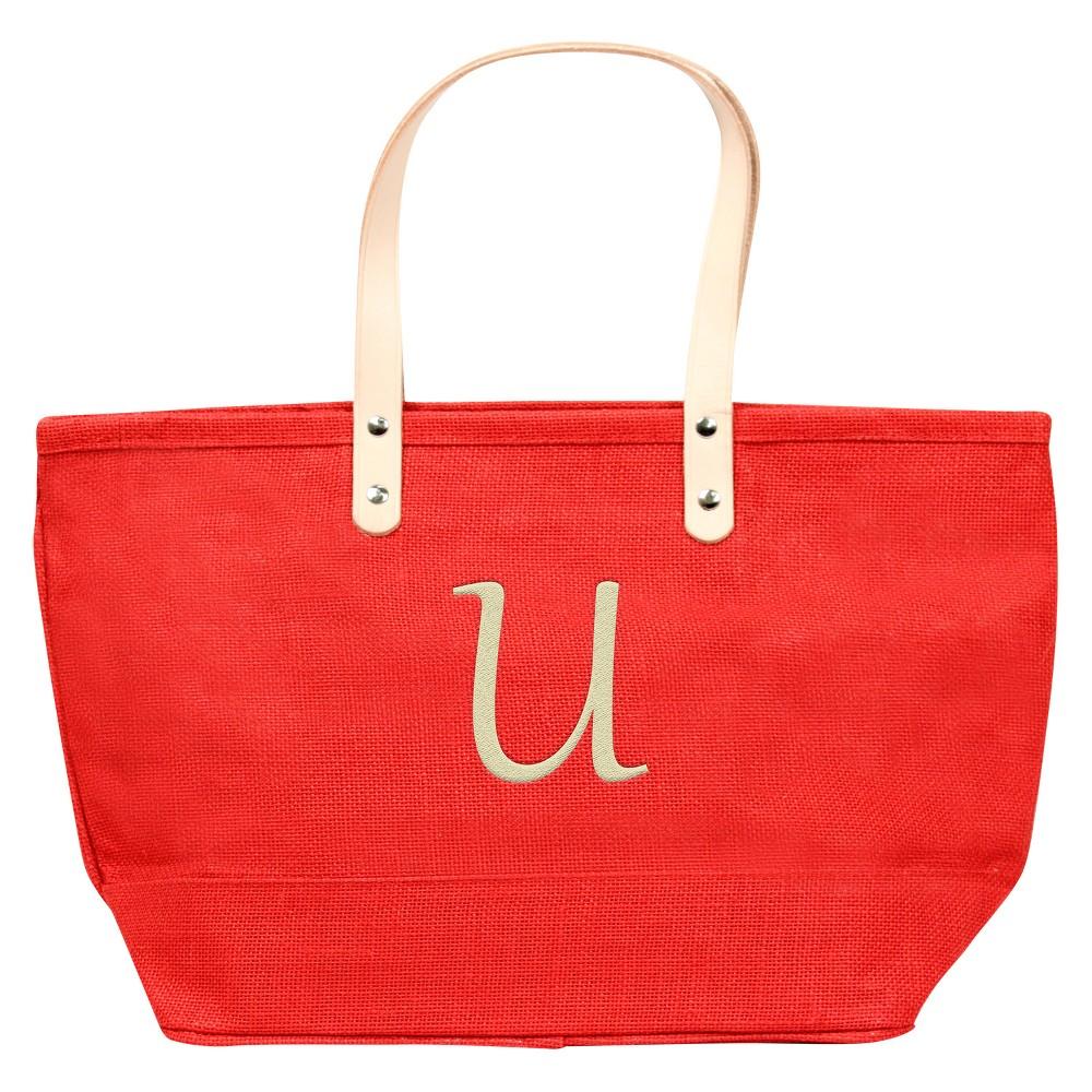 Womens Monogram Red Nantucket Tote - U, Size: Large, Red - U