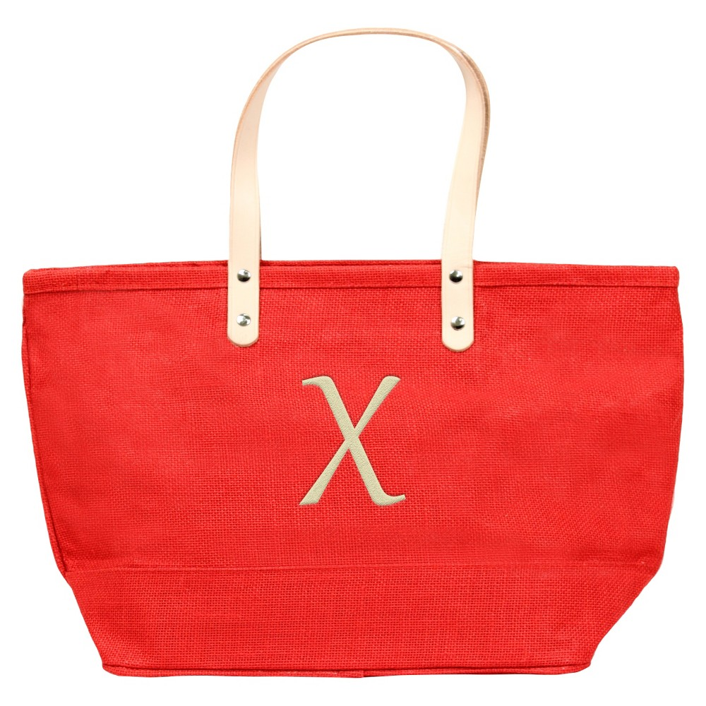 Womens Monogram Red Nantucket Tote - X, Size: Large, Red - X