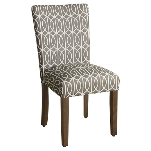 Parsons Pattern Dining Chair Wood Set Of 2 Homepop
