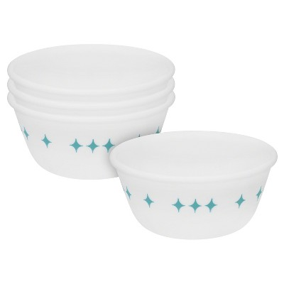 Corelle® Vintage Charm Rise and Shine Dessert Bowls Turquoise 12oz - Set of 4