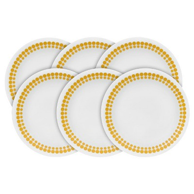 Corelle® Vintage Charm Spot On Dessert Plates Yellow - Set of 6