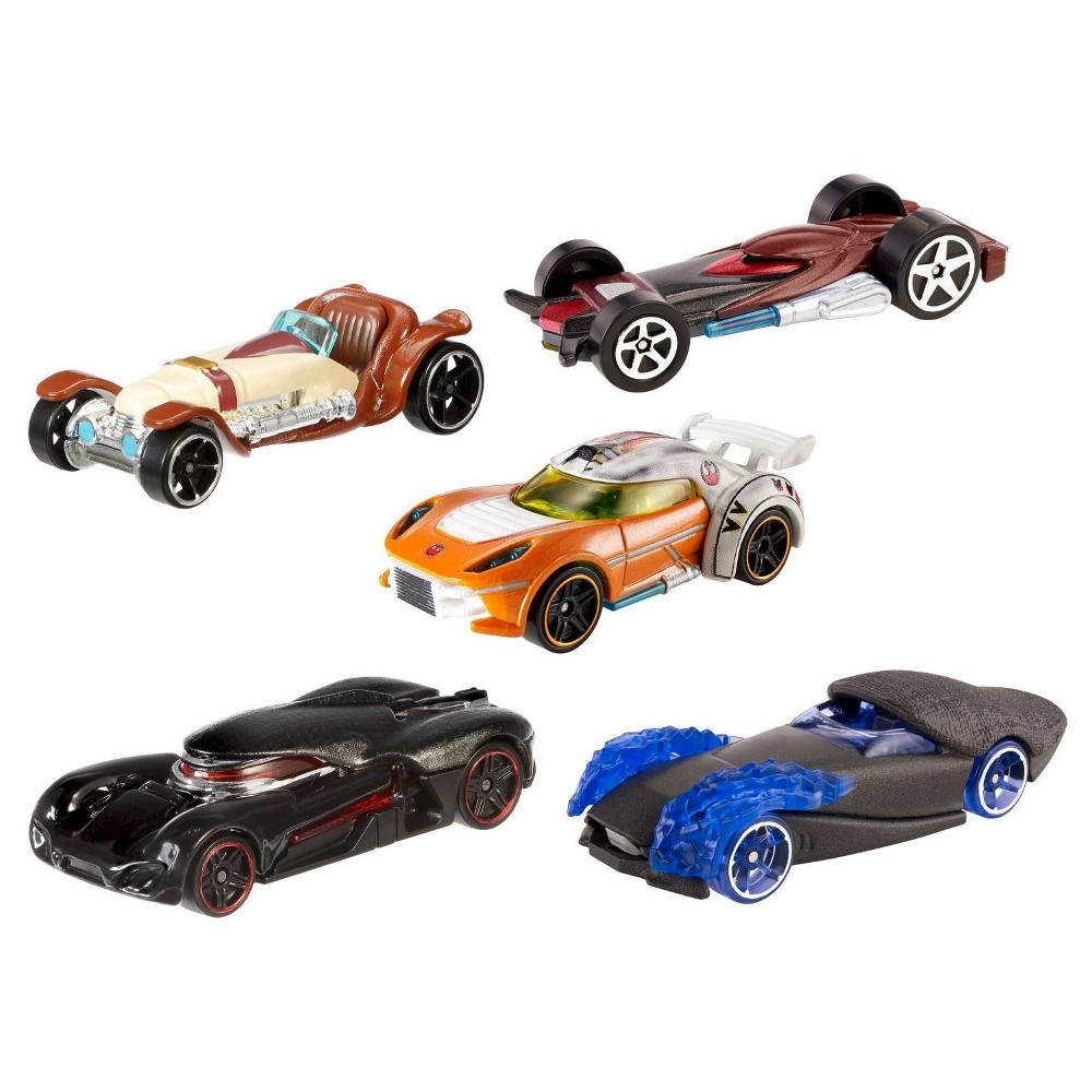 Hot Wheels Star Wars: The Force Awakens Light Side vs. Dark Side Character Car 5-Pack