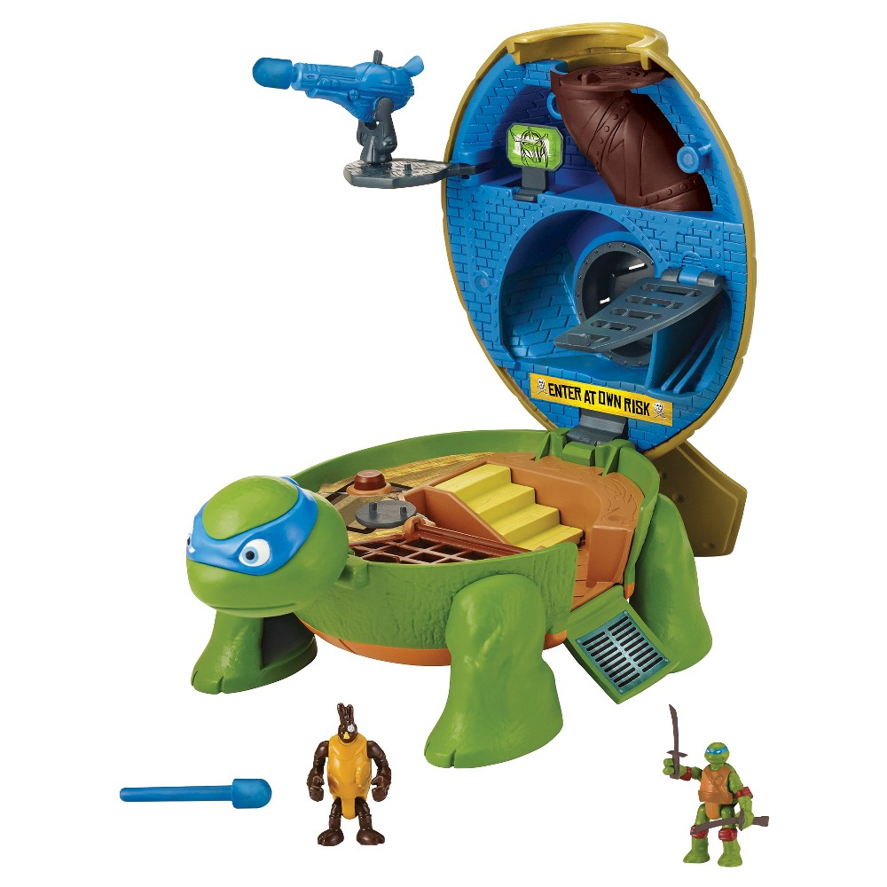Teenage Mutant Ninja Turtles Micro Mutants Leonardo's Dojo Pet Turtle Playset