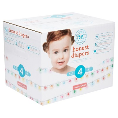 Honest Company Diapers Club Pack, Sparkling Lights - Size 4 (60 ct)