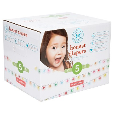 Honest Company Diapers Club Pack, Sparkling Lights - Size 5 (50 ct)