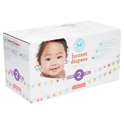 Honest Company Diapers Club Pack, Sparkling Lights - Size 2 (76 ct)