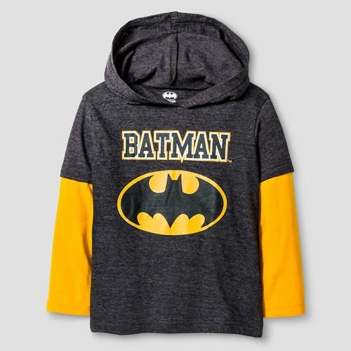 Tee Shirts Batman Heather Grey 3T, Toddler Boy's, Gray