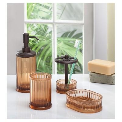 Alston Bath Accessory Set - Amber/Bronze - InterDesign