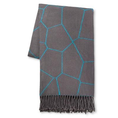 Voronoi Throw Blue - Modern by Dwell Magazine