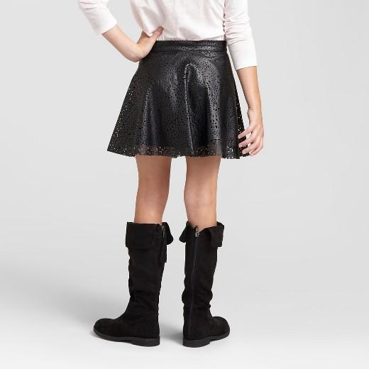 faux leather skirt xhilaration black l target