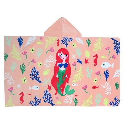 Hooded Beach Towel - Mermaid - Evergreen