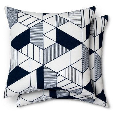 Geo Pillow Navy 2 pk - Modern by Dwell Magazine
