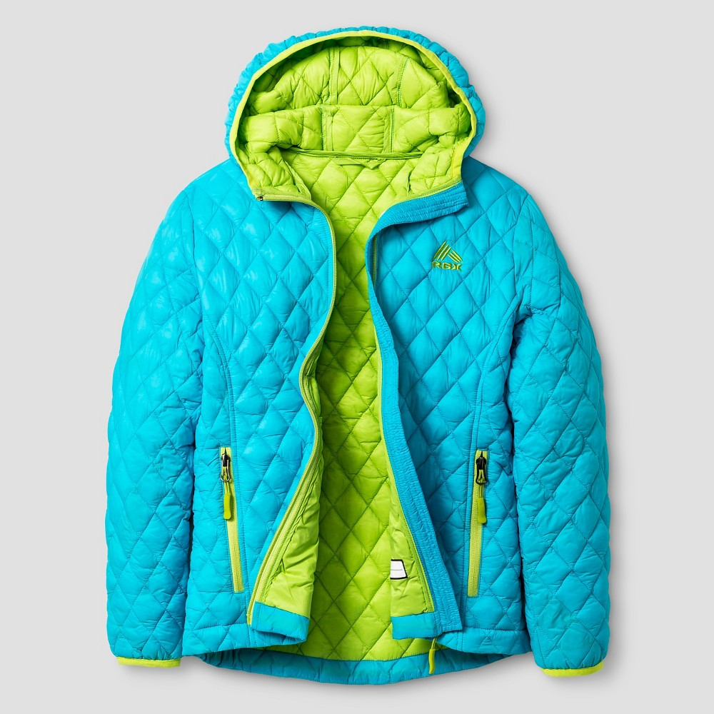 Rbx Girls Microball Jacket with Hood S - Blue