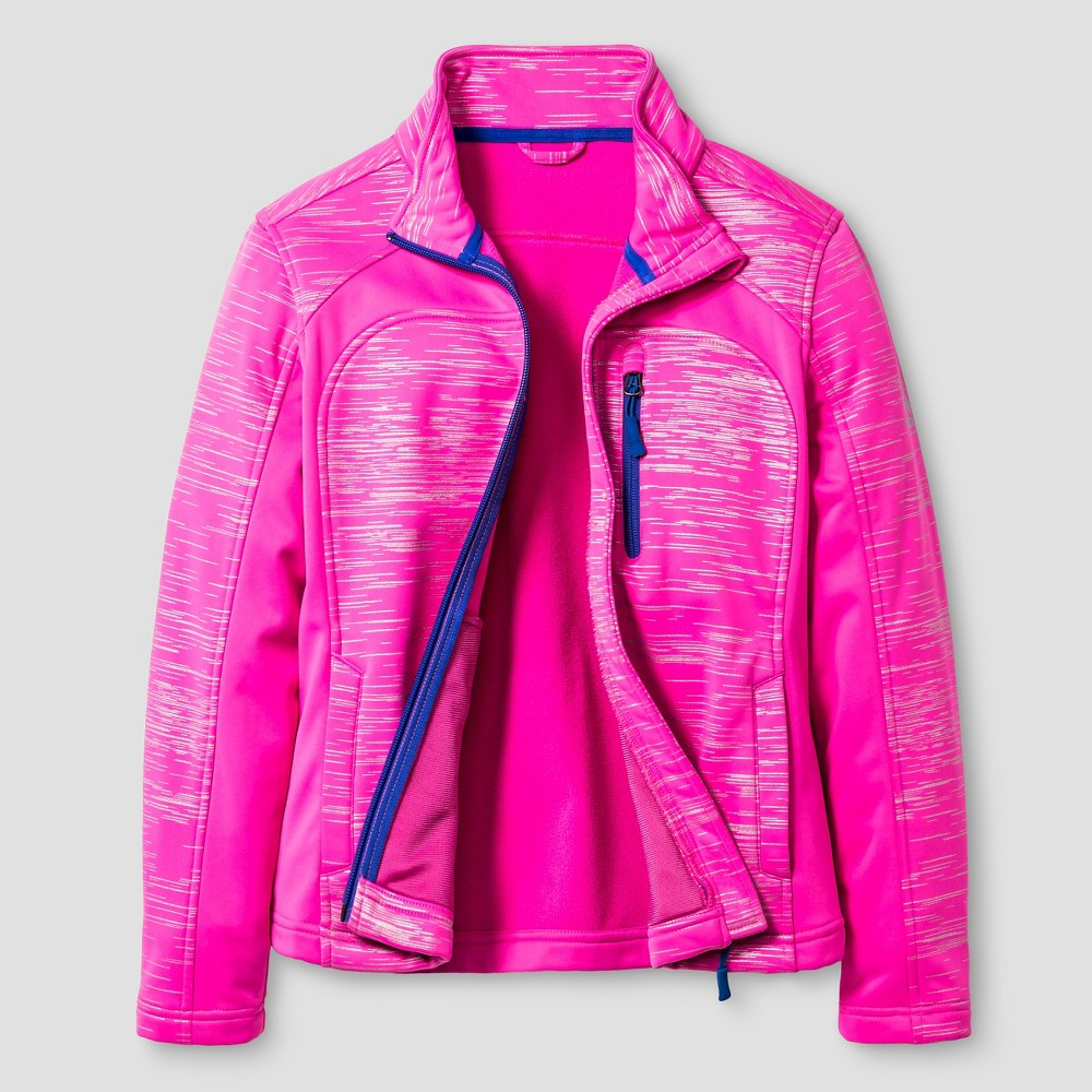 Rbx Girls Printed Softshell Jacket XL - Fuchsia (Pink)