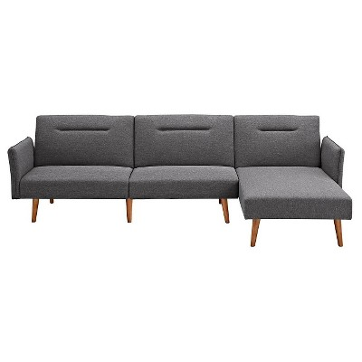 Brent Futon Chaise - Gray Linen - Dorel Home Products