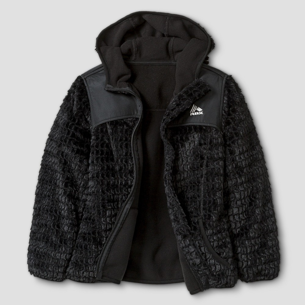 Rbx Girls Monkey Fleece Jacket with Hood S - Black