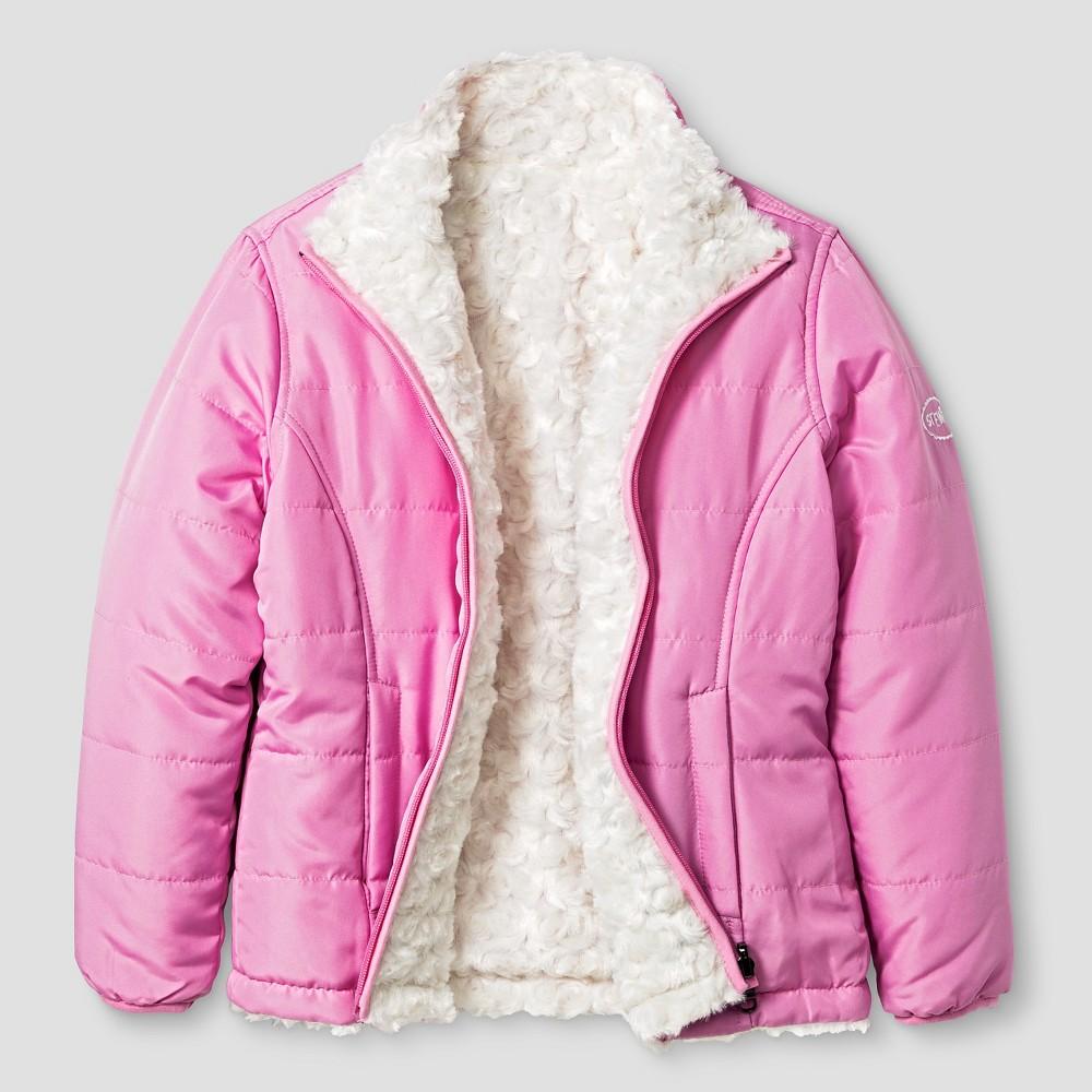 Girls Stevies Reversible Fleece Jacket L - Pink Rose