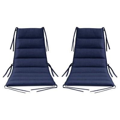 Lounge Chair Cushion 2 pk Navy - Modern by Dwell Magazine