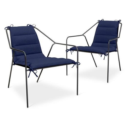 Lounge Chair Cushion 2 pk Navy Modern by Dwell Magazine Tar