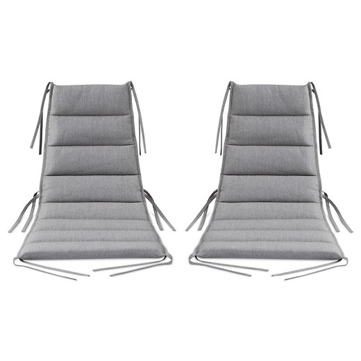 Outdoor Lounge Chair 2 pk Gray  Modern by Dwell Magazine  Target