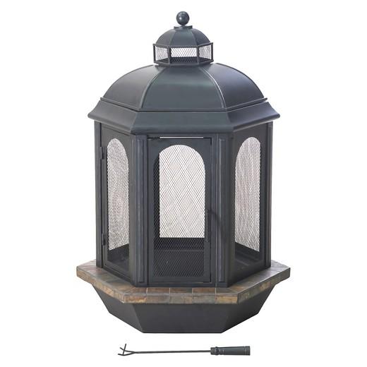 Sunjoy Ava 52 Slate and Steel Outdoor Fireplace Target
