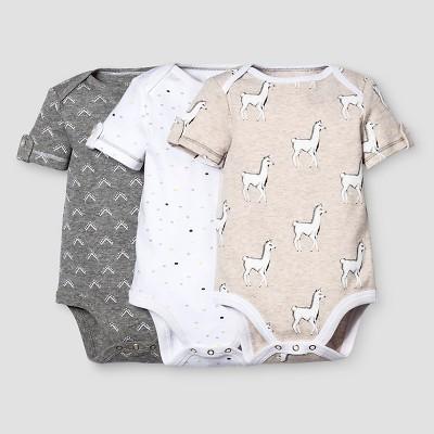 Baby 3-Piece Bodysuit Set Nate Berkus™ - Heather Gray/Oatmeal 24M