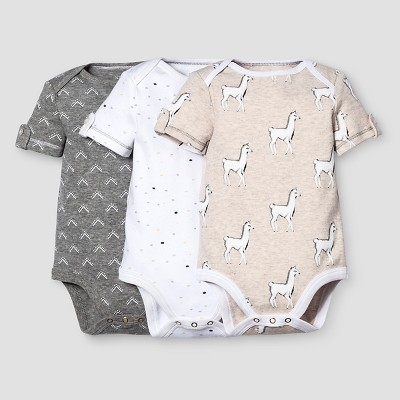Baby 3-Piece Bodysuit Set Nate Berkus™ - Heather Gray/Oatmeal 0-3M