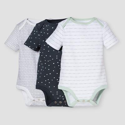 Baby Boys' 3-Piece Bodysuit Set Nate Berkus™ - White/Graphite 6-9M