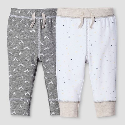 Baby 2-Piece Pants Set Nate Berkus™ - Heather Gray/White 0-3M