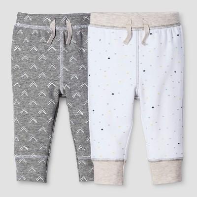 Baby 2-Piece Pants Set Nate Berkus™ - Heather Gray/White 6-9M