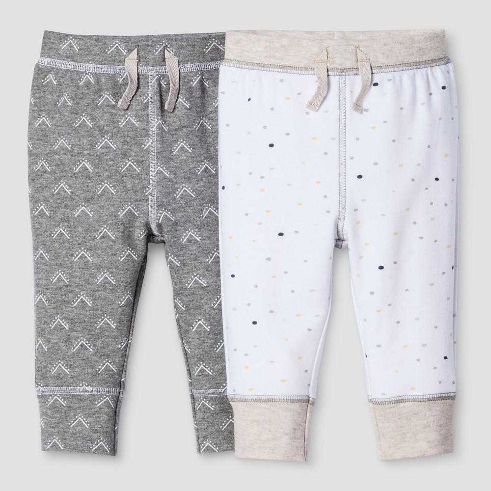 Baby 2-Piece Pants Set Nate Berkus - Heather Gray/White 12M, Infant Unisex, Size: 12 M