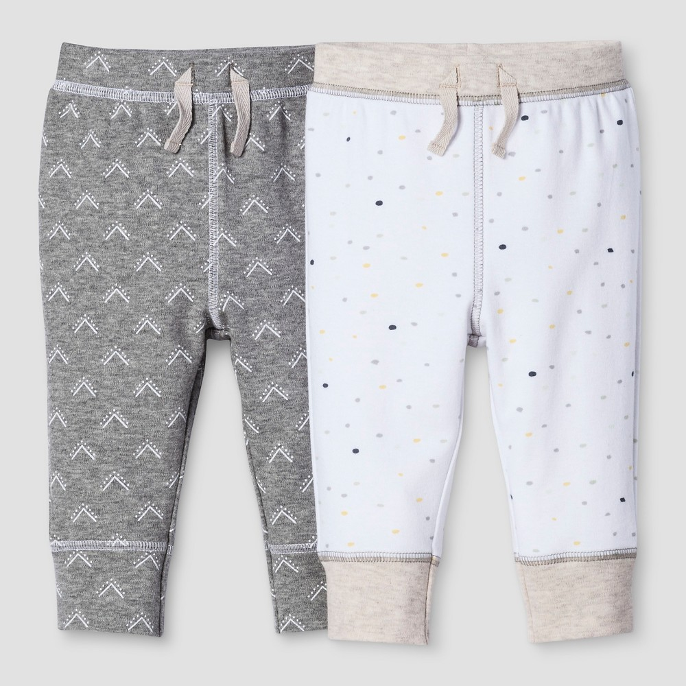 Baby 2-Piece Pants Set Nate Berkus - Heather Gray/White 18M, Infant Unisex, Size: 18 M