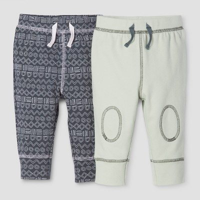 Baby Boys' 2-Piece Pants Set Nate Berkus™ - Graphite/Sage 3-6M