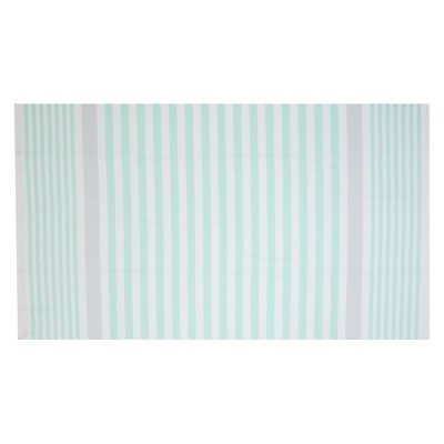 Flat Weave Beach Towel - Mint - Evergreen