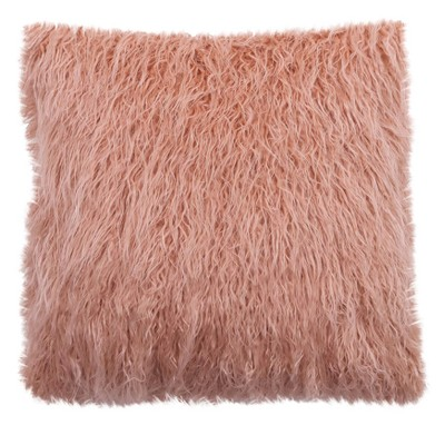 Faux Fur Pillow (18 )- Pink - Threshold™