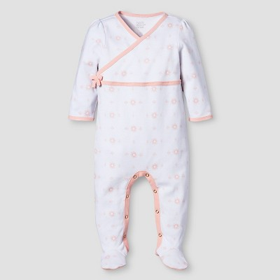 Baby Girls' Sleep N' Play Nate Berkus™ - Peach/White 6-9M