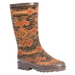 Women's MUK LUKS® Annabelle Aztec Print Rain Boots - Brown