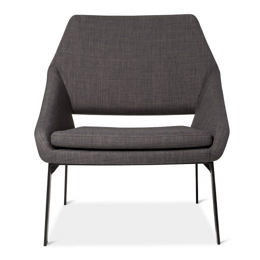 Lounge Chair Gray Black Modern by Dwell Magazine Tar