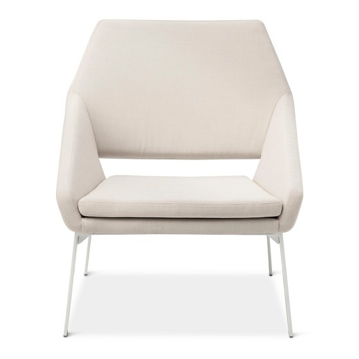 Lounge Chair White Natural Modern by Dwell Magazine Tar