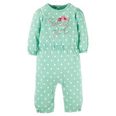 Just One You™ Made by Carter's® Baby Girl Coverall - Mint Dot 9M