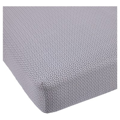 Balboa Baby Cotton Sateen Fitted Crib Sheet - Gray & White Dot