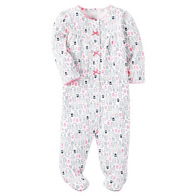 Just One You™ Made by Carter's® Baby Girls' Sleep N' Play Owls - NB