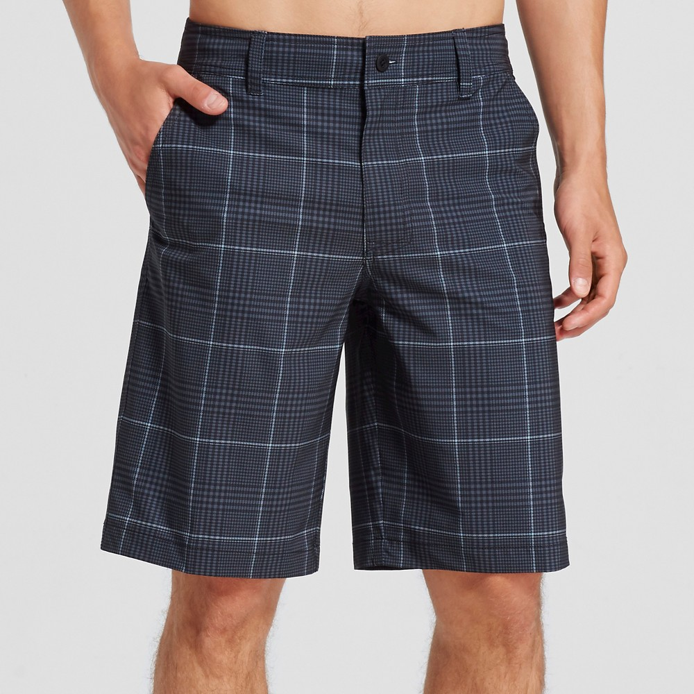 Men's Hybrid Black Plaid Shorts 32 - Mossimo Supply Co.