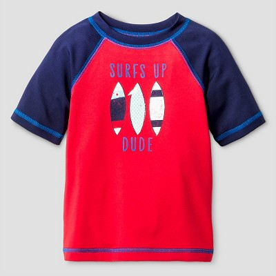 Baby Boys' Surfboard Rash Guard - Cat & Jack™ Red 9M